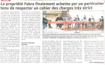 Article Opération FABRA